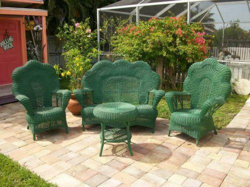 Used Wicker Patio Furniture Ebay