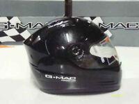 G-Mac Radar Small and Medium Size Black Full Face