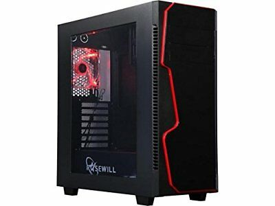 Rosewill GUNGNIR X ATX Mid Tower Gaming Computer Case Full-Size Window Panel ...
