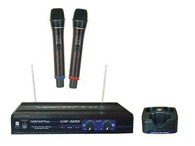 Vocopro UHF-3205 UHF-Dual Channel Wireless Rechargeable Microphone System Dual Channel Rechargeable Wireless Microphone