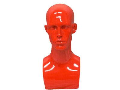 Male Fiberglass Mannequin Head Bust Wig Hat Jewelry Display Md-erared