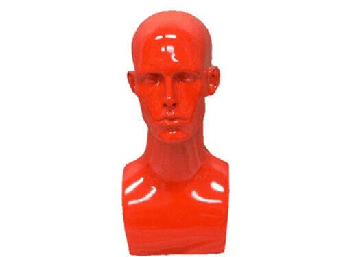 Male Fiberglass Mannequin Head Bust Wig Hat Jewelry Display #MD-ERARED