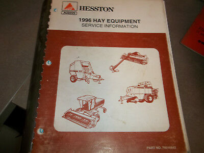 Hesston 1996 Hay Equipment Service Information Manual