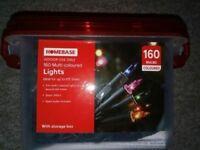 BRAND NEW Christmas Lights, 160 Multi-coloured Lights