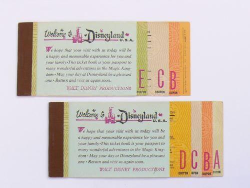 disneyland ticket book disneyana ebay. Black Bedroom Furniture Sets. Home Design Ideas