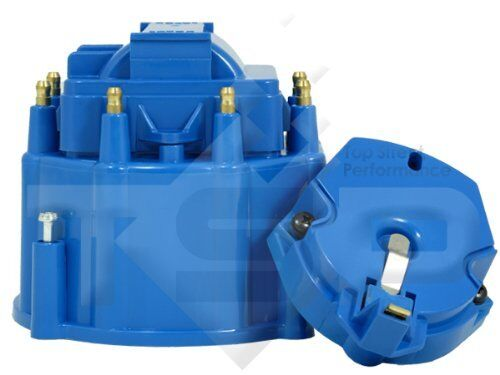 Small-Big-Block-Chevy-GM-HEI-Distributor-Blue-Cap-and-Rotor-kit-327-305-350-454