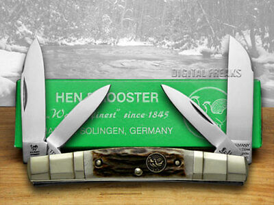 Hen & Rooster Stag Congress Pocket Knives 324C-DS Knife German