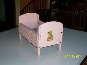Vintage Wood Doll Crib