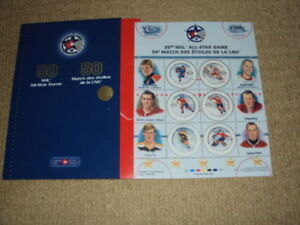 2000 CANADA POST, 50TH NHL ALL-STAR GAME 12 STAMP SOUVENIR SHEET