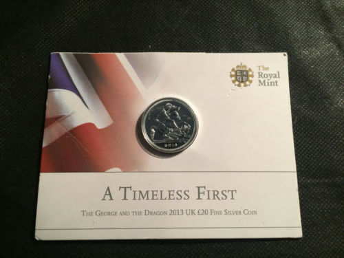 """£20 FineSilver Coin """"The George and The Dragon """" 2013"""