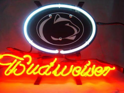 NCAA PENN STATE NITTANY BUDWEISER Hand Craft Beer Bar Pub Store NEON Light Sign  - Penn State Store