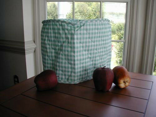 Spring Mint Green Gingham 4 Qt Crockpot Appliance Cover Round,  LAST ONES
