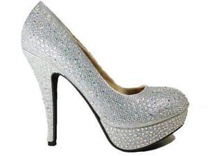 Purple satin peep toe diamante studded high heel evening shoes 0AOUV