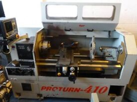 XYZ PROTURN 410 SEMI CNC TEACH LATHE LX3 YEAR 1998