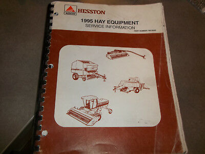 Hesston 1995 Hay Equipment Service Information Manual
