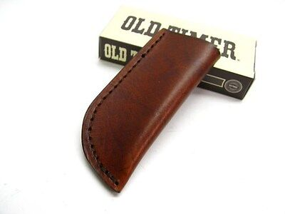 SCHRADE Brown Leather Large Slip In Belt Pouch SHEATH For Pocket Knife Tool! LS4