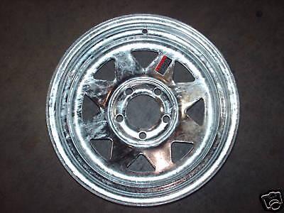 """13"""" Galvanized Spoke Trailer Rim, Wheel Tire 5H 20234"""