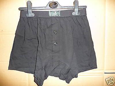 Celtic Mens Boxers in Black Cotton/Lycra Medium