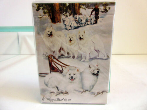 New Samoyed Playing Cards Deck Set by Ruth Maystead Samoyeds SAM-PC