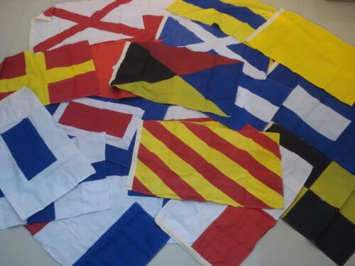 LARGE - Naval Signal Flags / Flag SET- Total 26 flag - 16 X 28 Inches (5028)