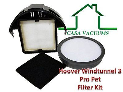 Hoover WindTunnel 3 Pro Pet Upright Compatible Filter Kit 303903001 305687002 -