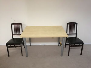 One table and Two chairs