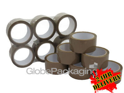 36 X ROLLS BUFF BROWN 48MM X 66M METER PACKAGING PACKING TAPES PARCEL 2
