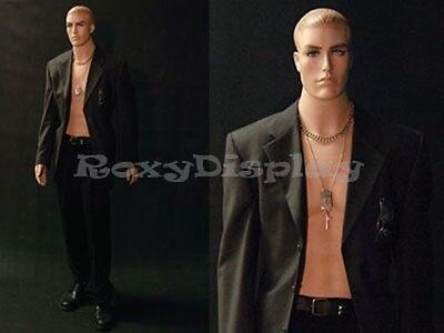 Fiberglass Realistic Male Mannequin Dress Form Display Md-7001f2