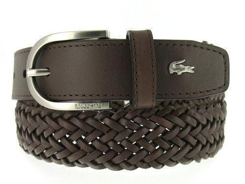 lacoste mens leather belt ebay