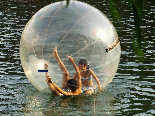 Transparent Giant Cylinder Human Water Bubble Ball Pvc Floating Roller Home Appliance Parts Food Processor Parts