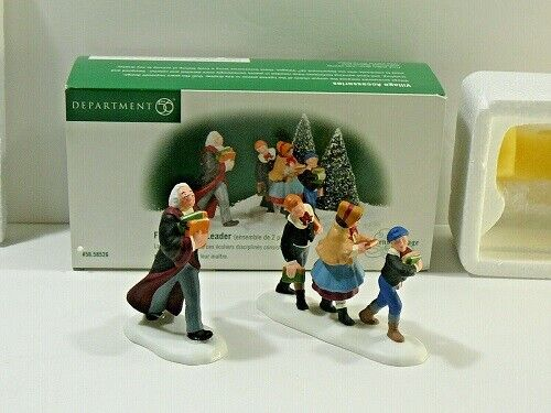 Department 56 Dickens Village Following The Leader, Set Of  2, Used