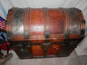 Antique Metal Trunk