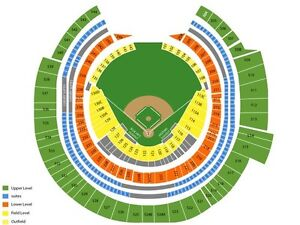 Toronto Blue Jays Season Tickets in 100 Level Outfield and 500s