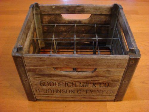 antique milk box ebay. Black Bedroom Furniture Sets. Home Design Ideas