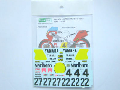 1/12 Yamaha YZR500 Marlb0r0 WGP '83 K. Robert Decal for Tamiya for sale  Shipping to India