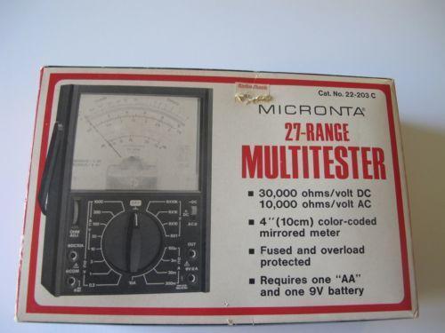 Radio Shack Multimeter : Micronta multimeter ebay