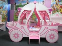 Pink Princess Carriage Single bed, dismantled ready to go, good used condition