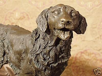 Nice Bronze Metal Statue Retriever Hunting Dog Man Best Friend Canine Sculpture