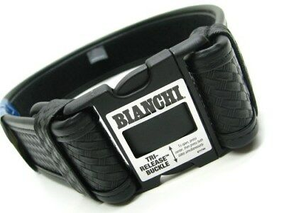 Bianchi Small 28-34 Waist Black 7950 Basketweave Accumold Elite Duty Belt