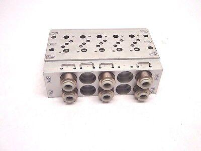 10 Port Aluminum Pneumatic Valve Manifold
