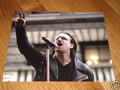 U2 Bono Edge Sexy Cool 8x10 Color Band Promo Photo #2