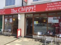 Fish and chip shop/restaurant, close to seafront in Fleetwood Lancashire. £36,499