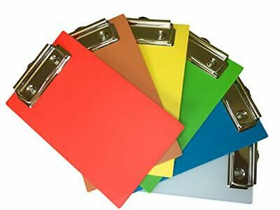 - Six Pack Of 4 X 6 Mini Clipboards - Rainbow Colors - Red Orange Yellow