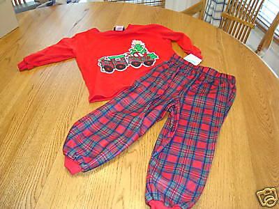 Jungen Weihnachten Pj Satz Nwt 2 Schlafanzüge 24.00 Tom & Jerry Karikaturen 2T