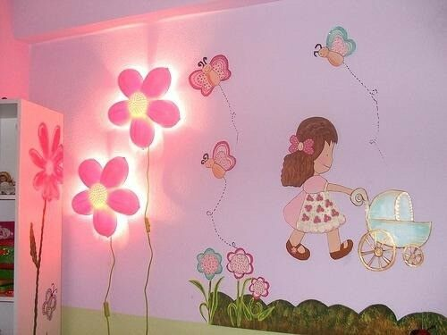 Ikea children 2x pink flower lights smila blomma in paisley ikea children 2x pink flower lights smila blomma aloadofball Images