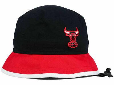 Chicago Bulls New Era NBA HWC Bucket Hat Cap 7 1/2 - 7 5/8 Red White Trim XL