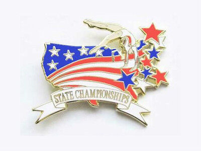 Gymnastics State Championships Lapel Pin - SPECTACULAR NEW DESIGN