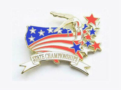 Gymnastics State Championships Lapel Pin SPECTACULAR NEW DESIGN