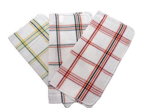 Assorted Waffle Weave Dish Cloths - Multi Colored Waffle Weave Dish Cloth 6 Pack