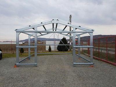 Lagerhalle Stahlkonstruktion Garage Leichtbauhalle 6m x 5,4m x 3m